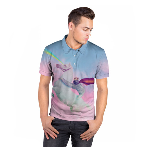 Мужская рубашка поло 3D  Фото 05, Ленивец предводитель