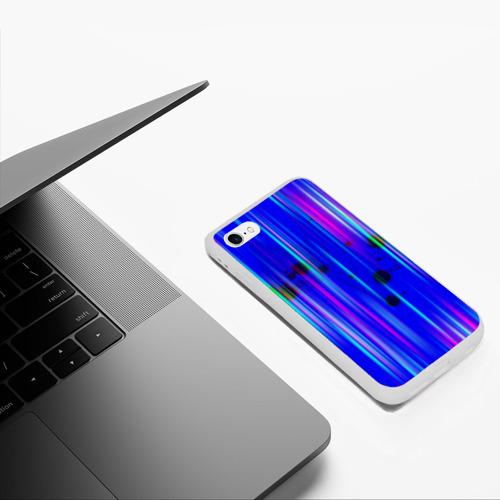 Чехол для iPhone 6/6S матовый neon strokes Фото 01