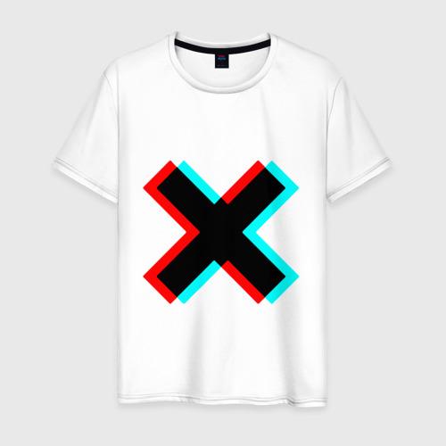 Мужская футболка хлопок X - Глитч