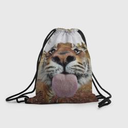 Тигр показывает язык