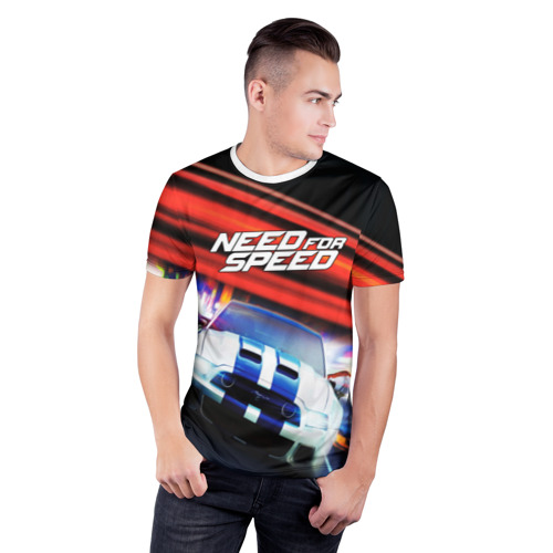 Мужская футболка 3D спортивная NEDD FOR SPEED Фото 01