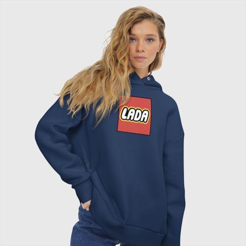 Женское худи Oversize хлопок LADA - LEGO логотип Фото 01