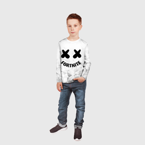 Детский лонгслив 3D FORTNITE x MARSHMELLO Фото 01