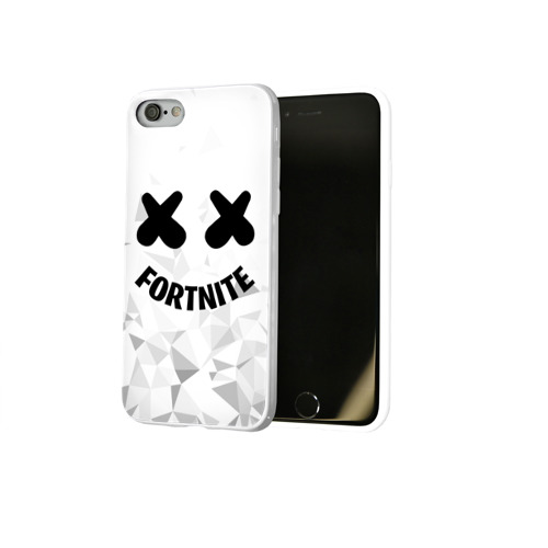 Чехол для Apple iPhone 8 силиконовый глянцевый FORTNITE x MARSHMELLO Фото 01
