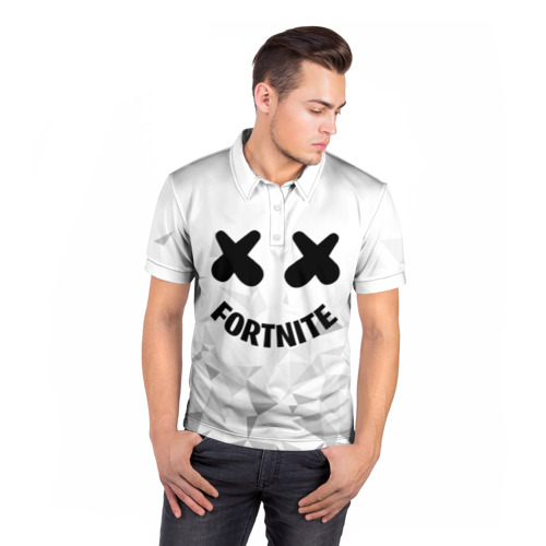 Мужская рубашка поло 3D  Фото 05, FORTNITE x MARSHMELLO