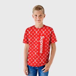 Supreme x L&V RED - интернет магазин Futbolkaa.ru