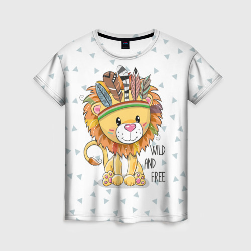 Wild and free. lion.