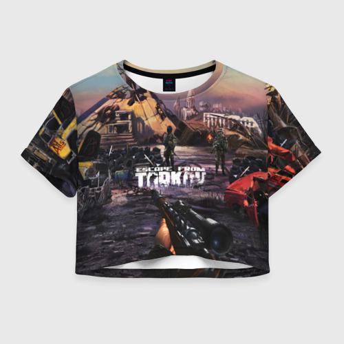Женская футболка Crop-top 3D Escape From Tarkov Фото 01