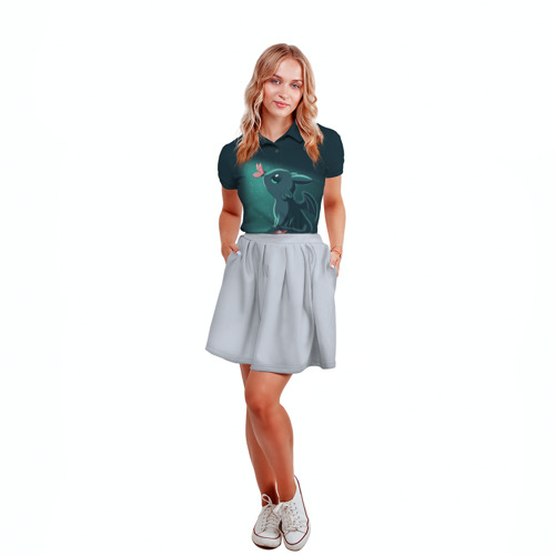 Женская рубашка поло 3D  Фото 04, Дракон Беззубик
