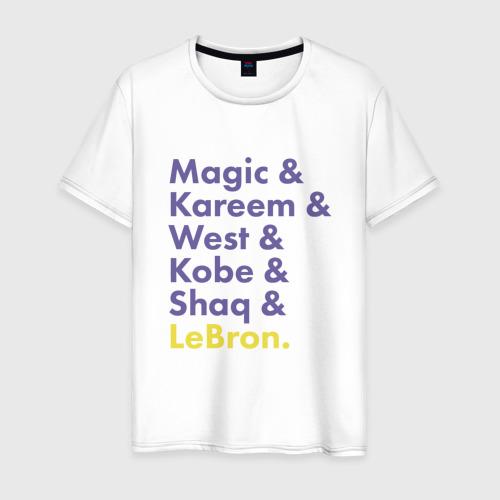Мужская футболка хлопок Lakers