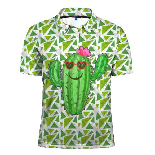 Мужская рубашка поло 3D Позитивный кактус