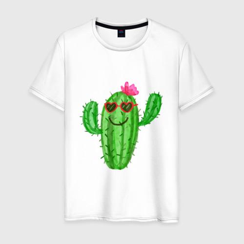 Мужская футболка хлопок Веселый кактус
