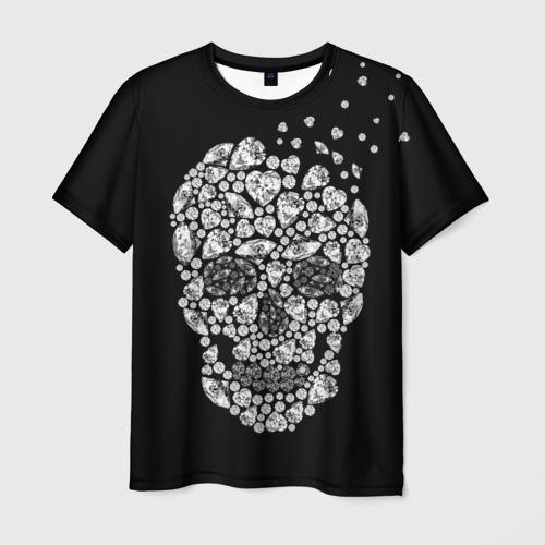 Мужская футболка 3D Diamond skull