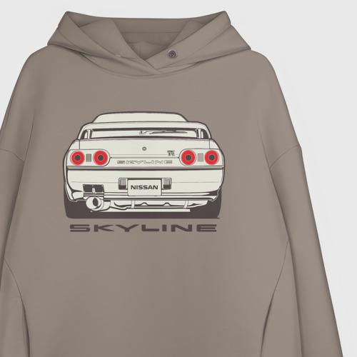 Женское худи Oversize хлопок Nissan Skyline R32 Фото 01