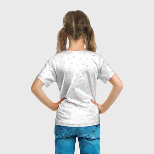 Детская футболка 3D Pusheen со сладостями за  1025 рублей в интернет магазине Принт виды с разных сторон