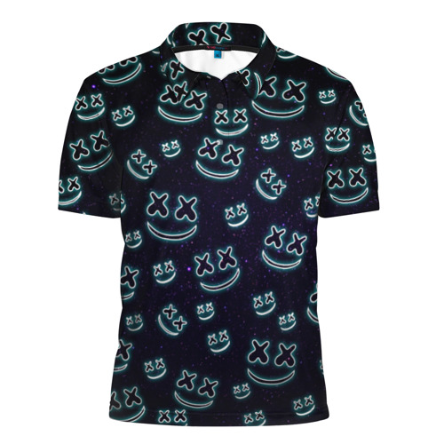 Мужская рубашка поло 3D Marshmello