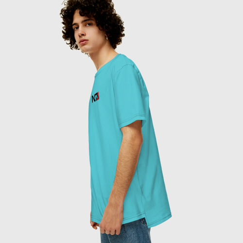 Мужская футболка хлопок Oversize MASS EFFECT Фото 01