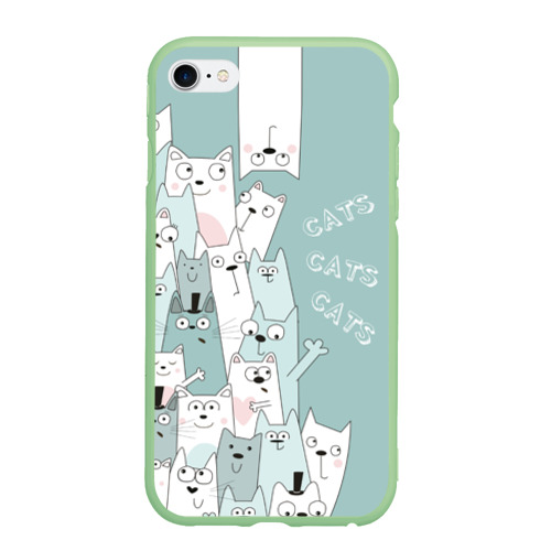 Чехол для iPhone 6/6S Plus матовый Cats Фото 01