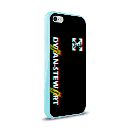 Чехол для iPhone 5/5S глянцевый Off-White Black (Glitch). Фото 01