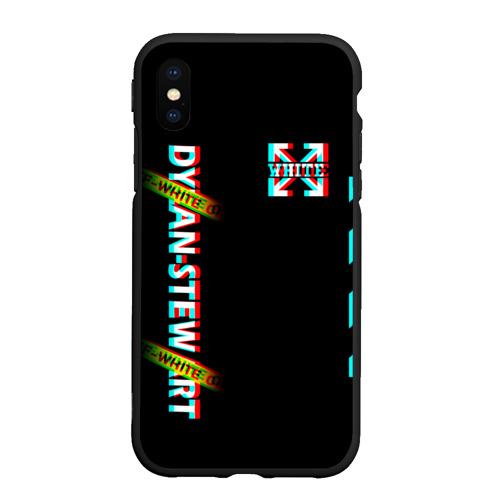 Чехол для iPhone XS Max матовый Off-White Black (Glitch). Фото 01