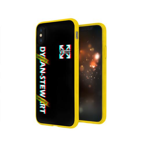 Чехол для iPhone X глянцевый Off-White Black (Glitch). Фото 01
