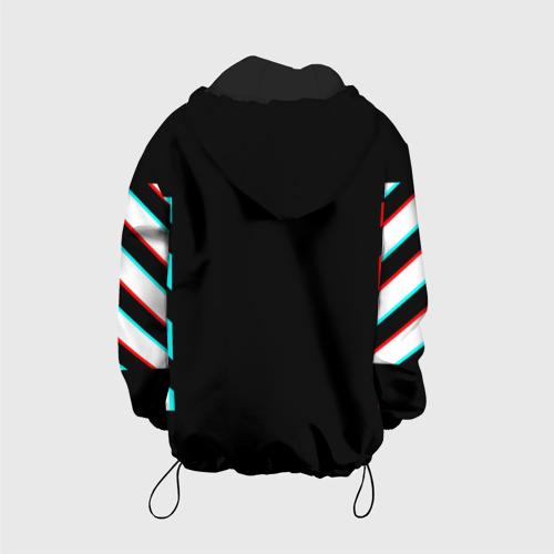 Детская куртка 3D Off-White Black (Glitch). Фото 01