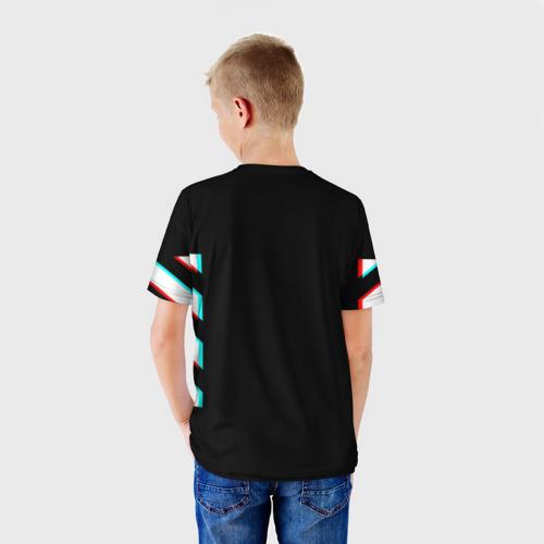 Детская футболка 3D Off-White Black (Glitch). Фото 01