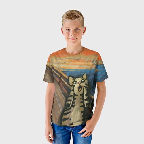Детская футболка 3D Крик котика Фото 01