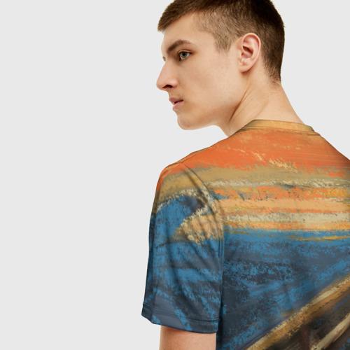 Мужская футболка 3D Крик котика Фото 01