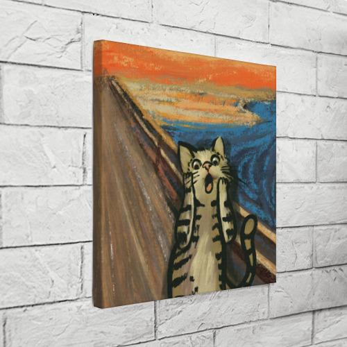 Холст квадратный Крик котика Фото 01