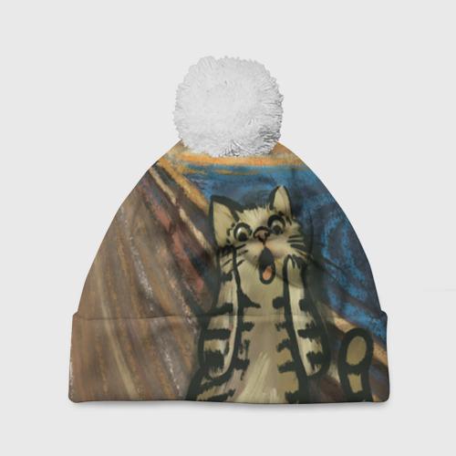 Шапка 3D c помпоном Крик котика Фото 01