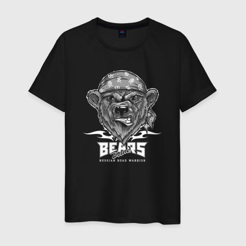 Мужская футболка хлопок Bear biker