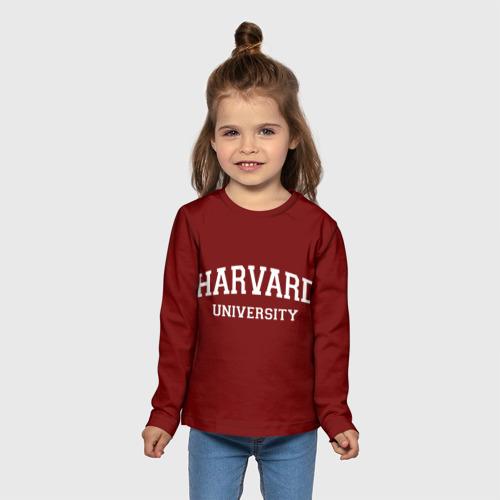 Детский лонгслив 3D Harvard University_девиз Фото 01