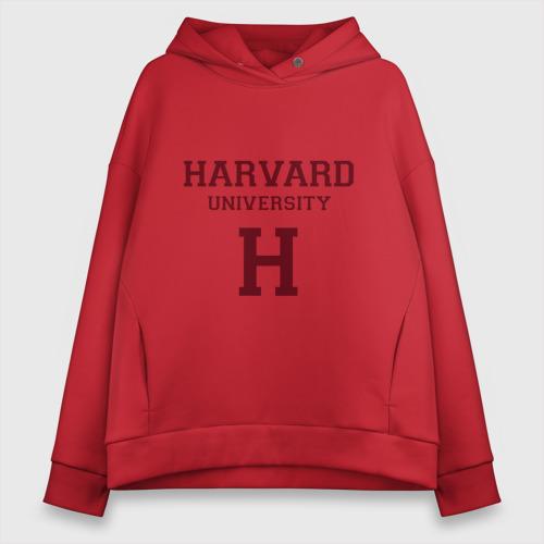Женское худи Oversize хлопок Harvard University_девиз Фото 01