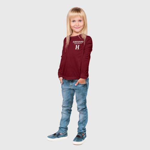 Детский лонгслив 3D Harvard University Фото 01