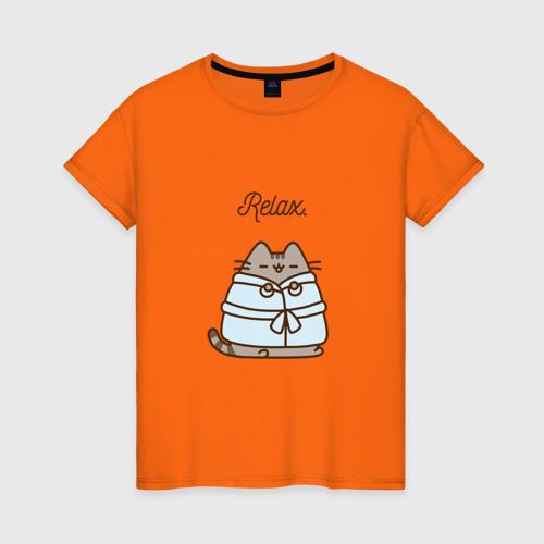 Женская футболка хлопок Pusheen Relax Фото 01