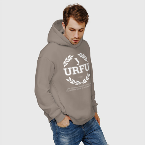 Мужское худи Oversize хлопок URFU Фото 01