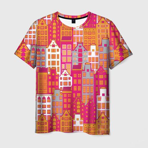 Мужская футболка 3D Город