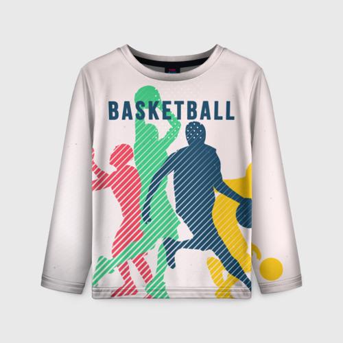 Детский лонгслив 3D Баскетбол Фото 01