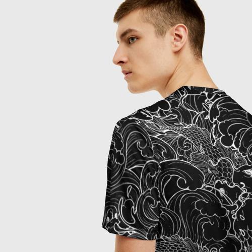 Мужская футболка 3D Карпы кои  Фото 01