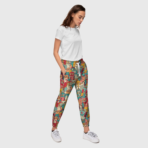 Женские брюки 3D Совы Фото 01