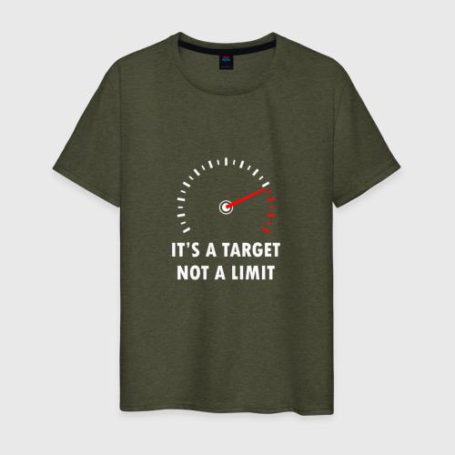 Мужская футболка хлопок It's a target, not a limit Фото 01