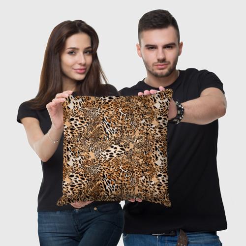 Подушка 3D Леопард Фото 01