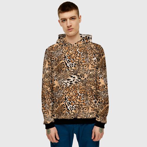 Мужская толстовка 3D Леопард Фото 01