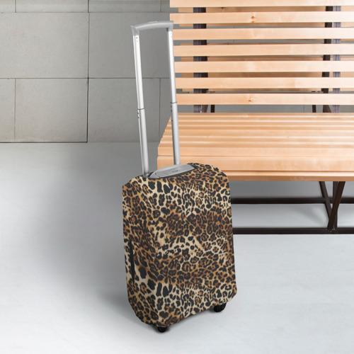 Чехол для чемодана 3D Леопард Фото 01
