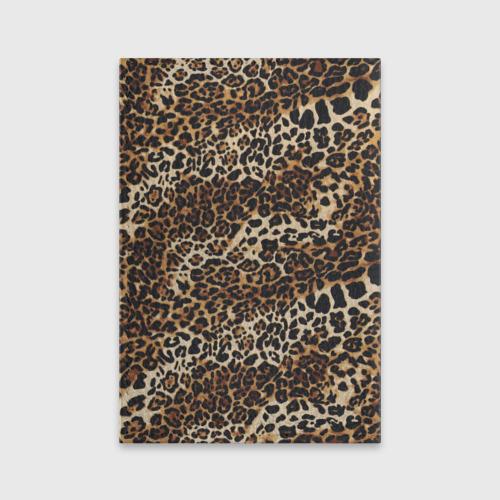 Обложка для паспорта матовая кожа Леопард Фото 01