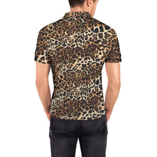Мужская рубашка поло 3D Леопард Фото 01