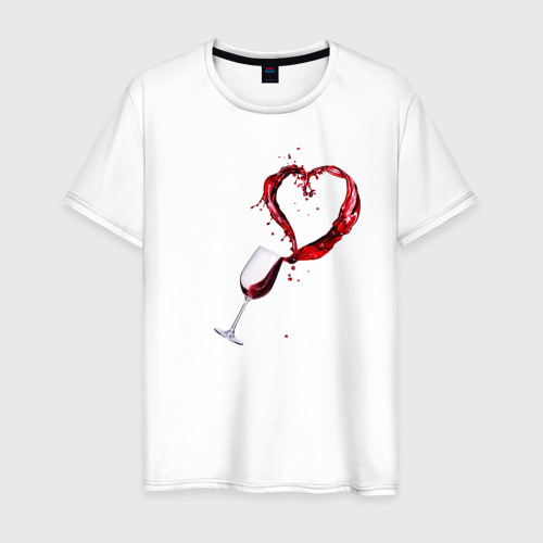 Мужская футболка хлопок Винишко в сердце у меня Фото 01