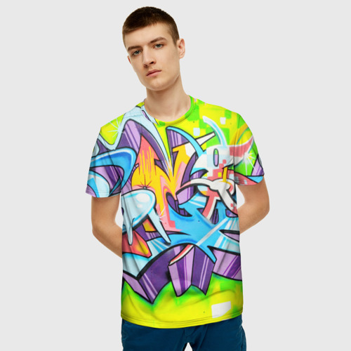 Мужская футболка 3D Неоновая кислота Фото 01