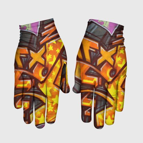 Перчатки 3D graffiti color S фото